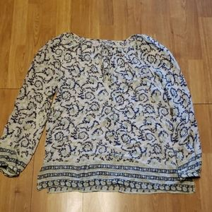 Lucky Brand boho peasant fliwy top sz large